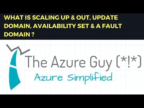 WHAT IS SCALING UP & OUT, UPDATE DOMAIN, AVAILABILITY SET & A FAULT DOMAIN ?