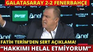 Fatih Terim | Maç Sonrası Basın Toplantısı | Galatasaray 2-2 Fenerbahçe | 2 Kası