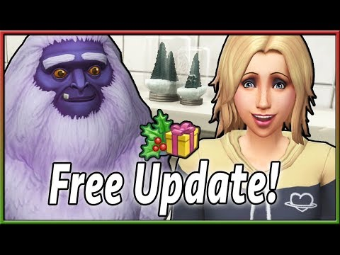 ⛄️🔊 ALEXA, Play The Sims 4. | Free Holiday Update Overview (December 2018) thumbnail