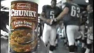Campbell's Chunky Soup Commercial with the Philadelphia Eagles