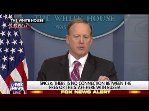Sean Spicer vs Female Reporter: If Trump used Russian dressing....