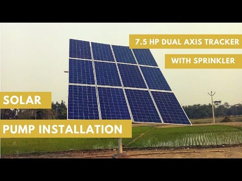 Solar Pump Installation | Irrigation | Agriculture | Solar Energy