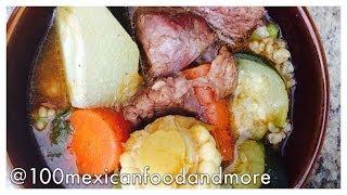 Mole de olla Mexico City recipe (beef soup)