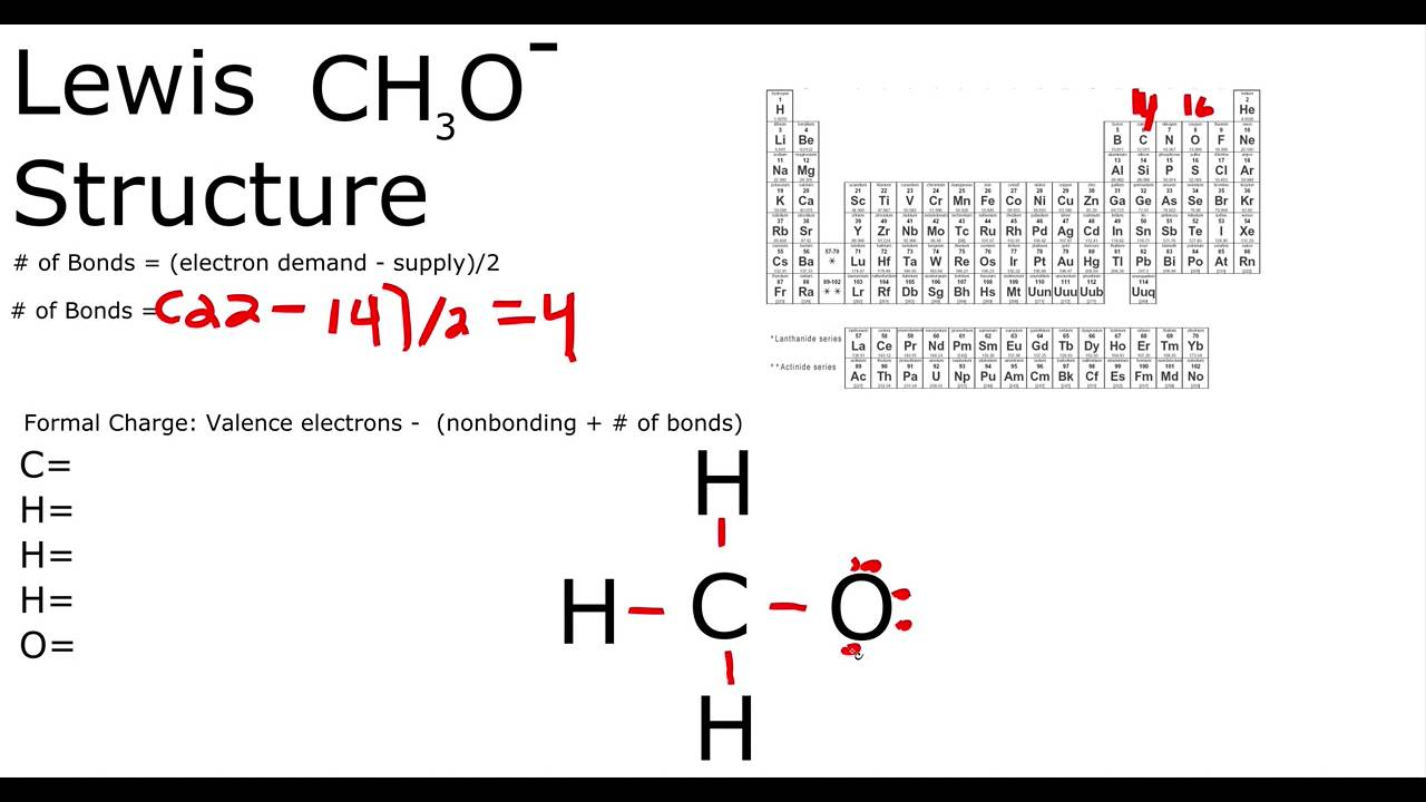 Ch3o Lewis Structure Youtube