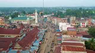 Gambar cover suasana sore di pasar sibuhuan kab  padang lawas  (drone)