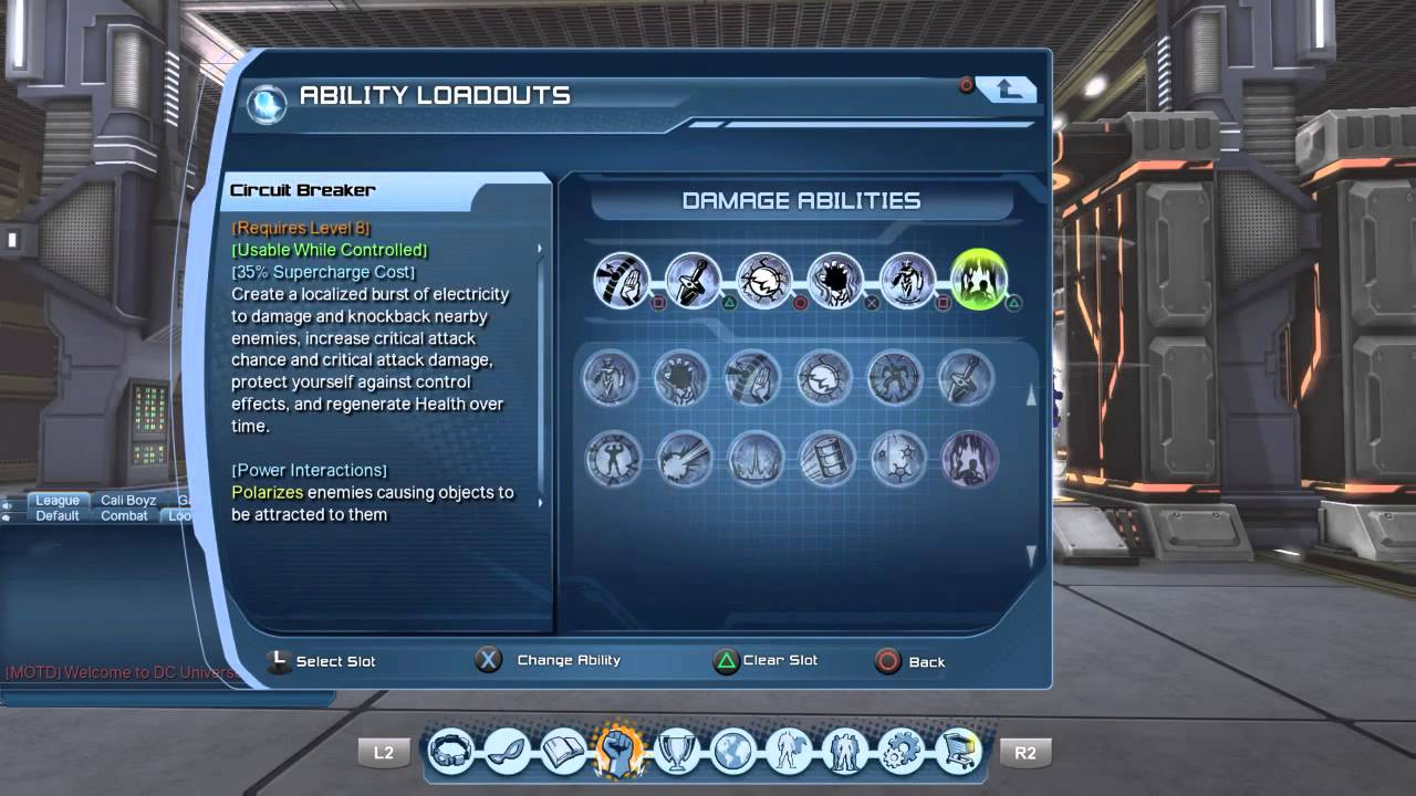 dc universe online electricity dps weapon mastery load out