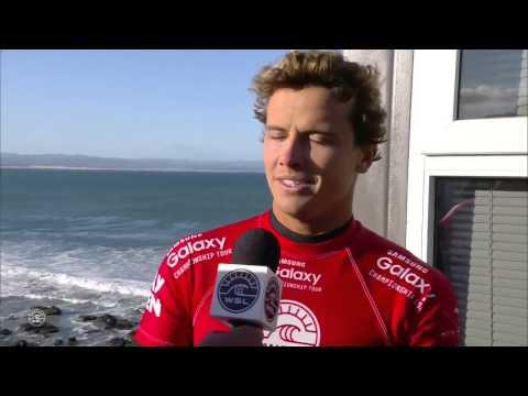 Julian Wilson Interview after Mick Fanning Shark Attack at Jay Bay