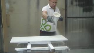 Как правильно нанести белую матовую эмаль Sayerlack на кухонные фасады?  Фильм 6-й