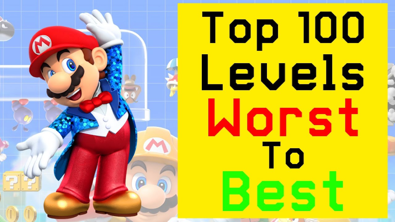 Ranking The Top 100 Most Popular Levels In Super Mario Maker 2 From Worst To Best!