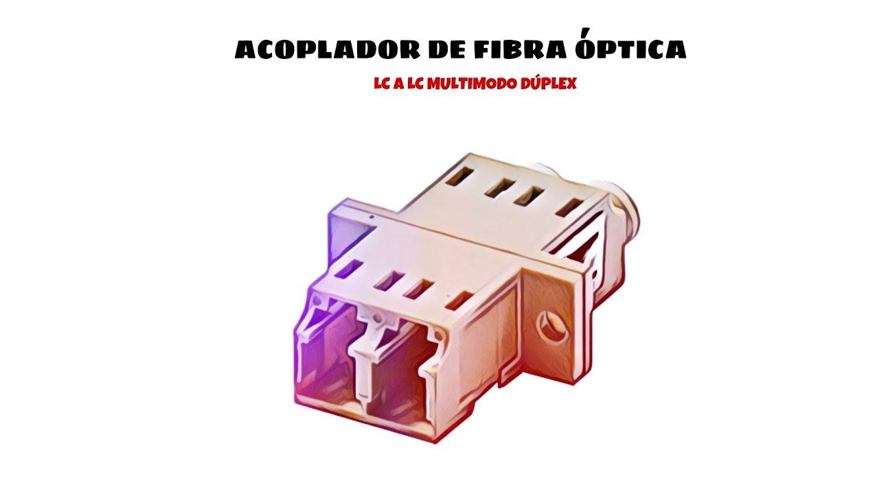CABLEPELADO Acoplador de Fibra optica LC a LC monomodo Duplex Azul