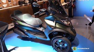 2018 Piaggio MP3 350 Scooter - Walkaround - 2017 EICMA Motorcycle Exhibition