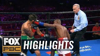 Guillermo Rigondeaux beats the bell with 1st round KO of Giovanni Delgado | HIGHLIGHTS | PBC ON FOX