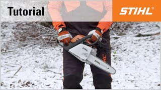Video Tutorial On Chain Saws 5 - Starting With Choke - Ground Start (ms 181)