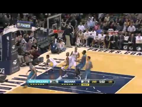 Lance Finds George | Pacers vs Hornets | NBA 2012-13 Season Nov 21, 2012