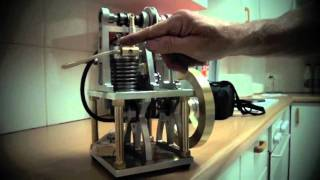 Homemade 4 stroke petrol engine