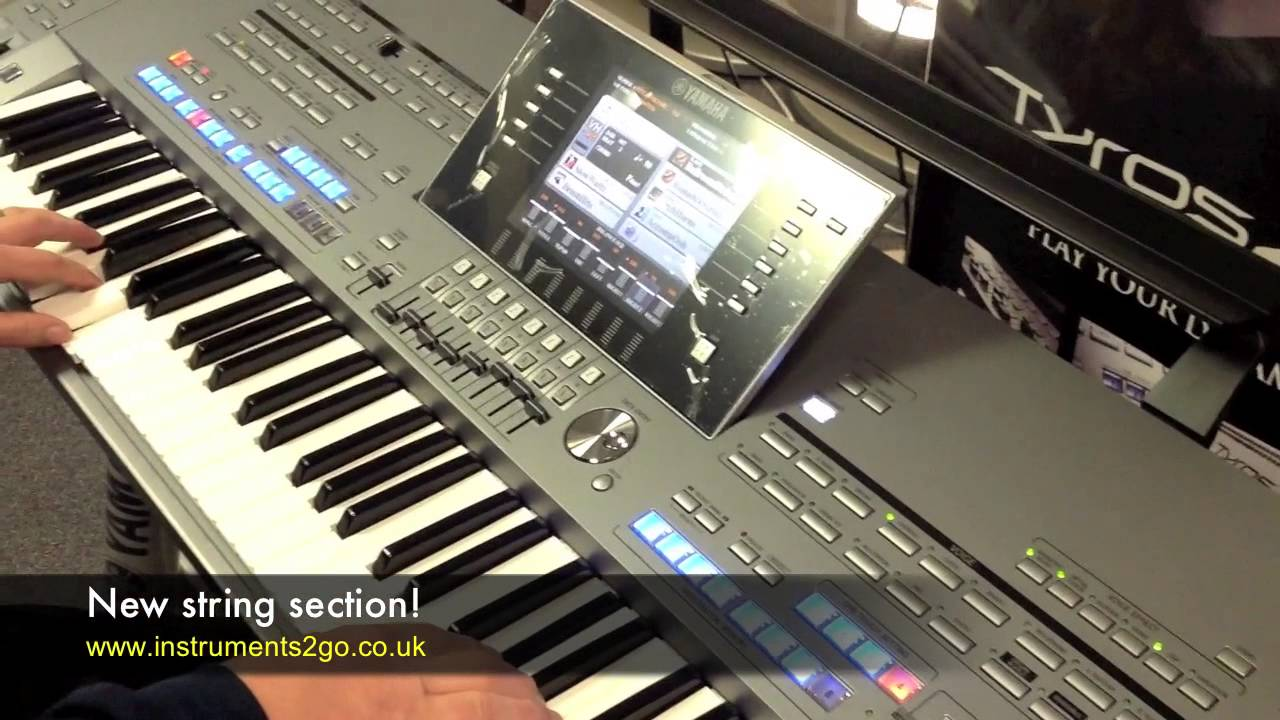 Yamaha tyros 5 first play demo youtube for Yamaha tyros 5
