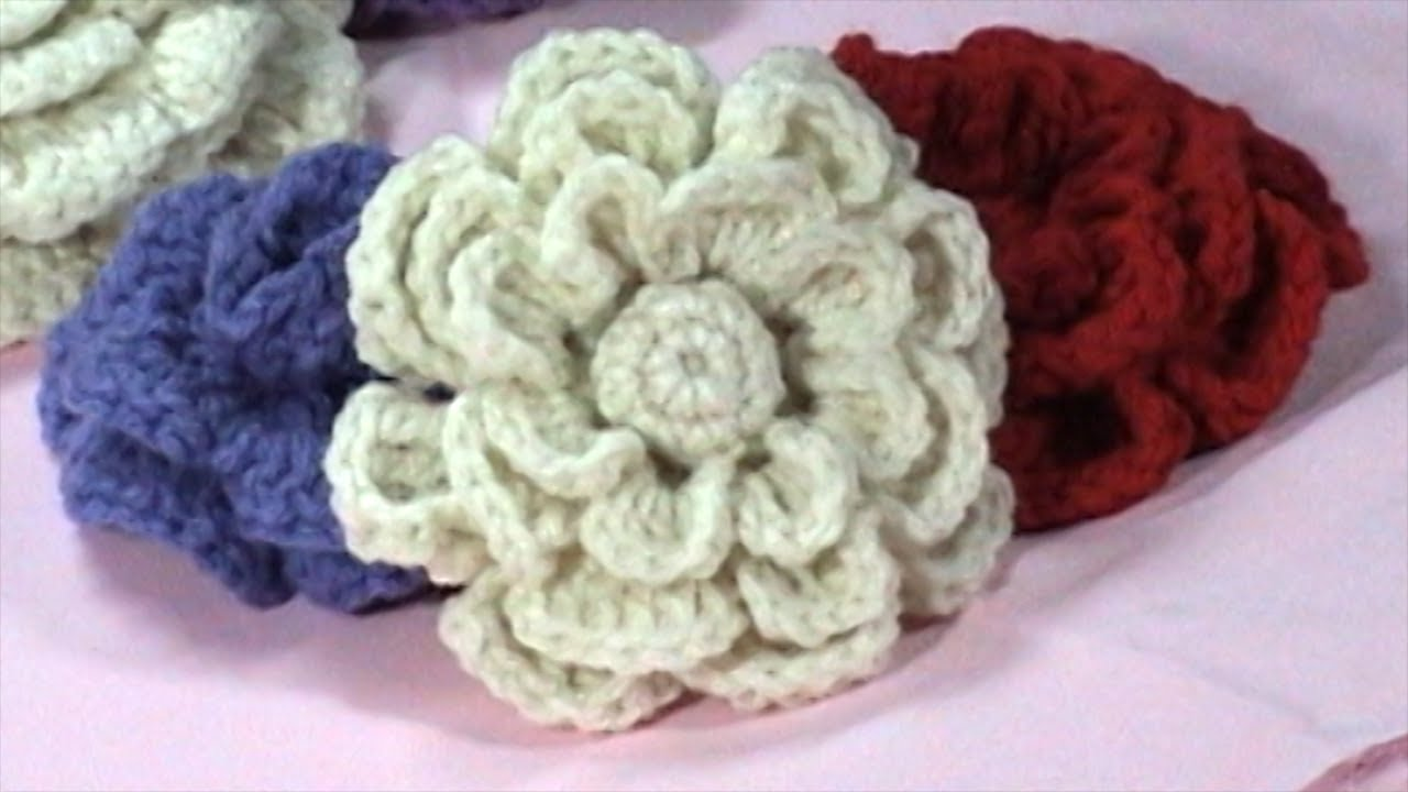 DIY, Flowers to Crochet, Crochet Flower Tutorial, Part 1 - YouTube