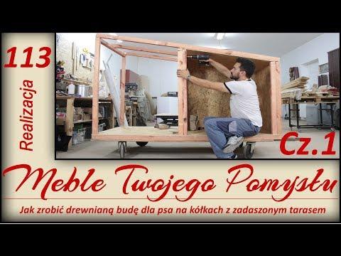 Jak zrobić drewnianą budę dla psa na kółkach z zadaszonym tarasem / wooden dog kennel with a terrace