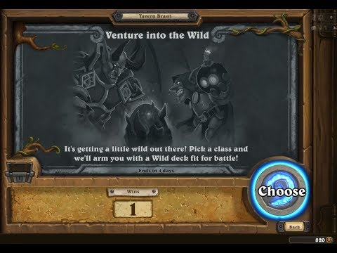 Hearthstone: New Tavern Brawl Venture into the wild