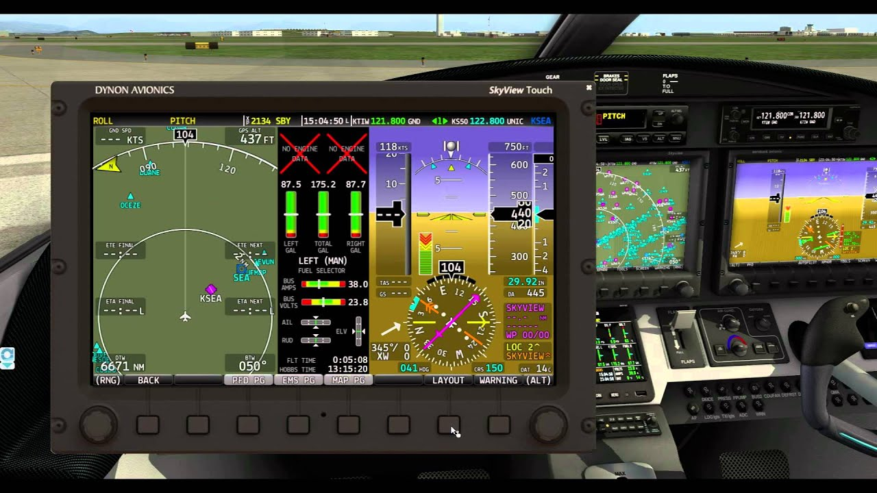 Epic Victory for X-Plane: Skyview display operation