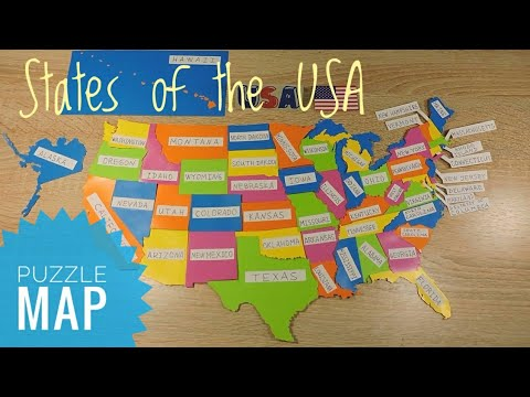 States Of America DIY Puzzle Map USA Geography Map Of The United States