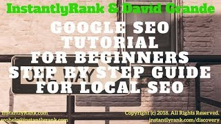 SEO Tutorial for Beginners Webinar | Google SEO Tutorial Beginners Step by Step Local SEO Guide