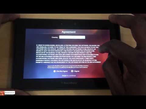 How to Setup & Update Blackberry Playbook| Booredatwork
