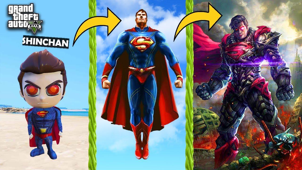 SHINCHAN Become GOD SUPERMAN in GTA 5   THUGBOI MAX