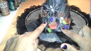 Altered Halloween Witch's Hat