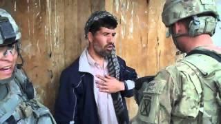 U S  Army MP patrol in Baraki Barak, Afghanistan, March 27, 2011