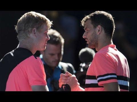 Grigor Dimitrov vs. Kyle Edmund 4-6, 6-3, 3-6, 4-6 Australian Open (QF) 23.01.2018.