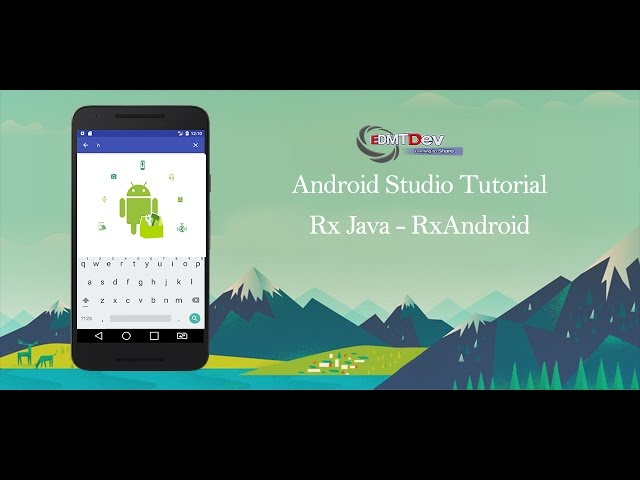 Android Studio Tutorial -  RxJava part 1