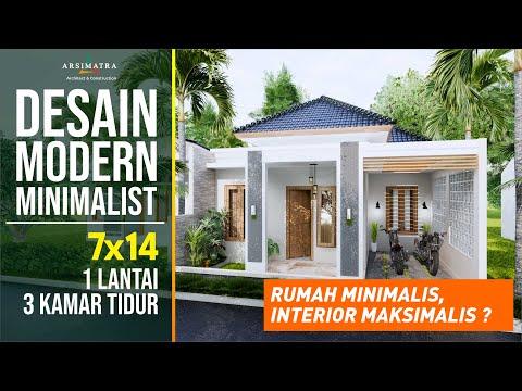 Desain Rumah Minimalis Open Space 1 Lantai