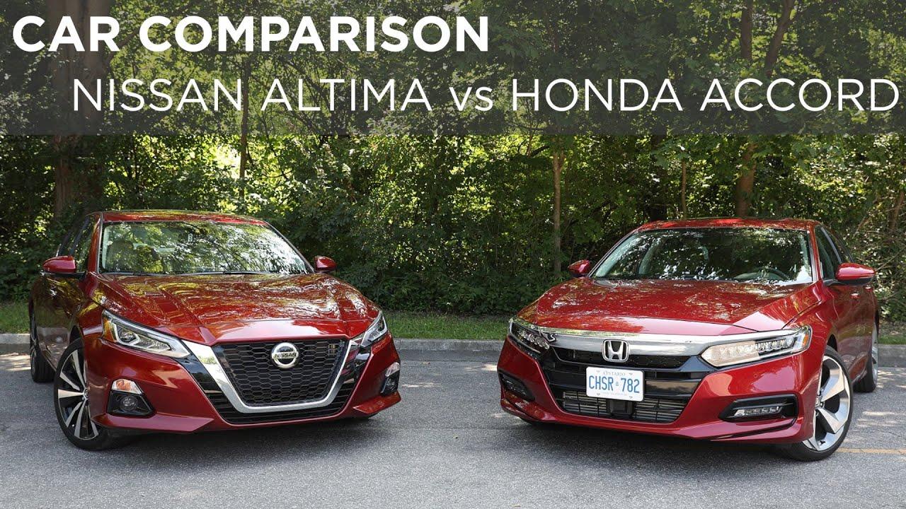 Nissan Vs Honda >> Nissan Altima Vs Honda Accord Car Comparison Driving Ca
