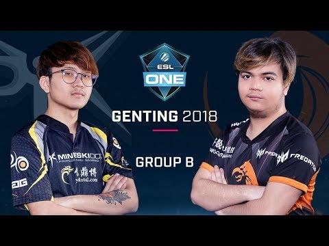 Dota 2 - Mineski vs TNC - Group B Opening Game - ESL One Genting 2018