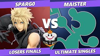 GOML NA Open MX Losers Finals - Spargo (Cloud) Vs. Maister (Game & Watch) Ultimate SSBU