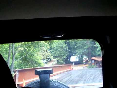 USA - Big Sur, West Coast: Leaving the Big Sur campground