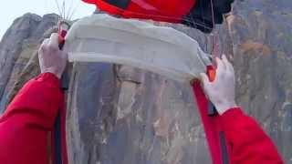 Трагическое падение парашютиста. От первого лица/Base Jumping cliff strike(Данное событие произошло 26.11.2013. Парашютист получил компрессионный перелом позвоночника, многочисленные..., 2013-12-16T21:51:35.000Z)