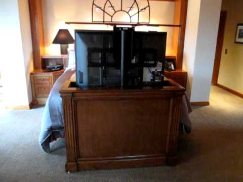 Customer Video Pop Up Tv Lift Cabinet 7 Youtube