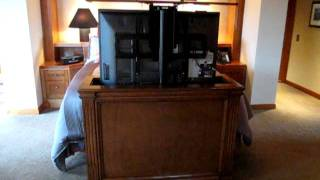 Customer Video Pop Up Tv Lift Cabinet #7