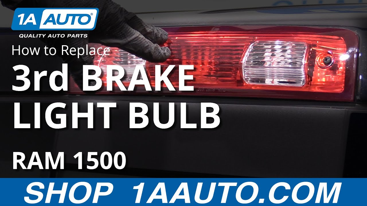 How To Replace 3rd Brake Light Bulb 09 18 Ram 1500 Youtube