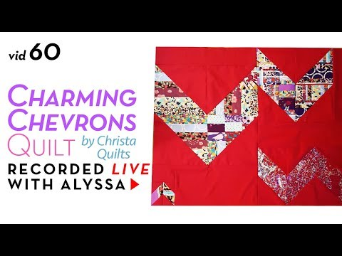 Sewing the back of my quilt - Vid 60 Charming Chevrons quilt #RelaxAndCraft Designer series