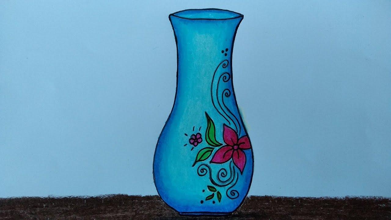 Cara Menggambar Vas Bunga Menggambar Dan Mewarnai Vas Bunga