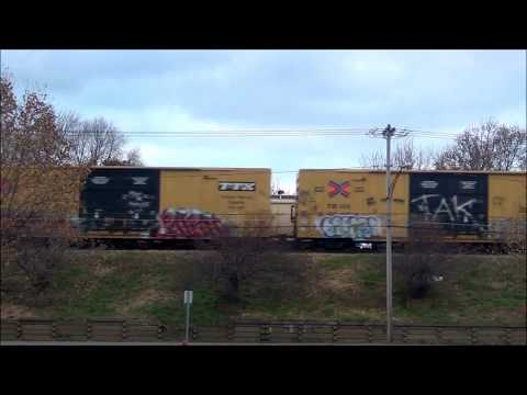 CSX UP Units and GP40 + Slug Pull Manifest Train
