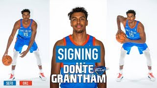 Meet Donte Grantham, the newest OKC Thunder 2-Way Contract Player