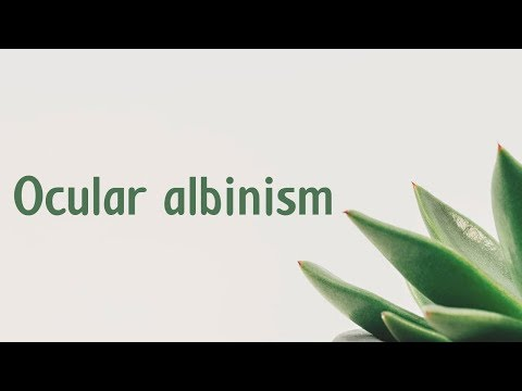 Ocular Albinism | Symptoms | Causes | Treatment | Diagnosis Aptyou.in