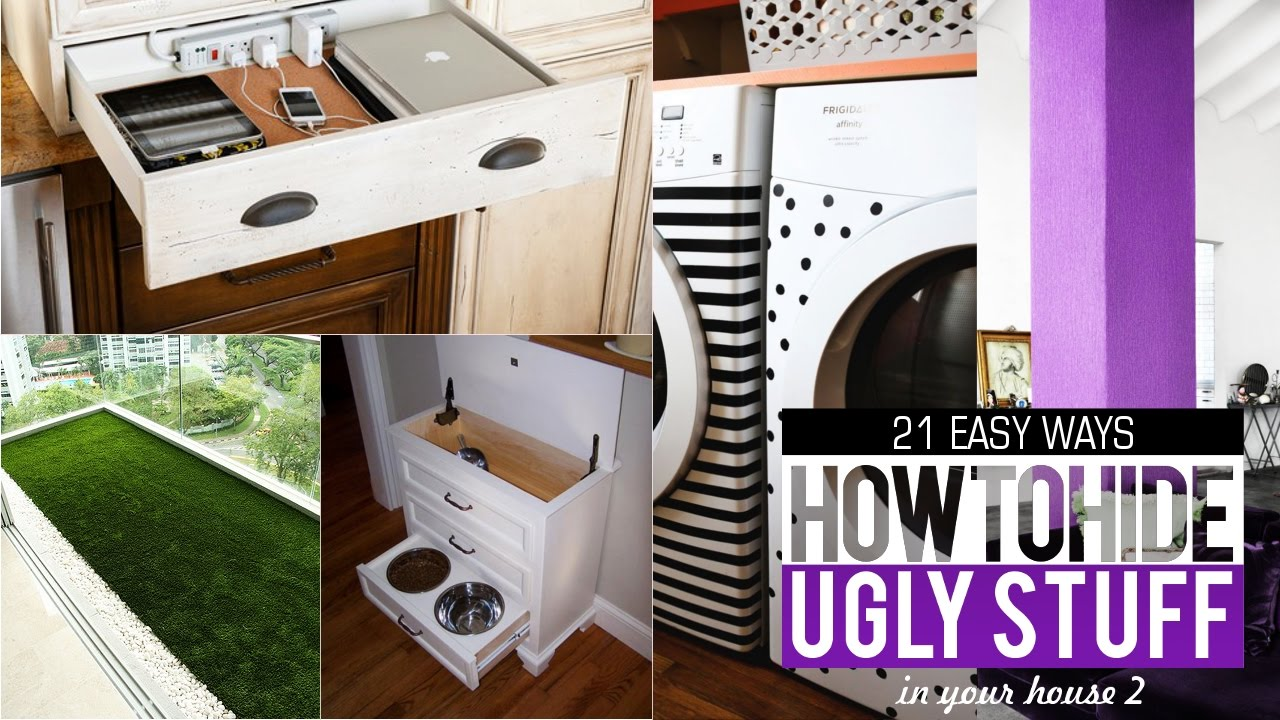 21 Ways to Hide and Organize Things in your House #2 - YouTube