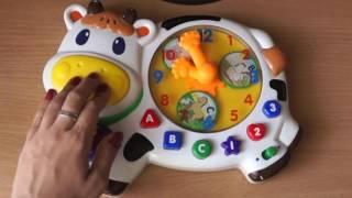 Детская игрушка музыкальная панель, звуки животных, учимся понимать часы