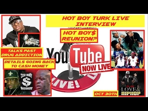 Hot Boy Turk on Past HEROIN Addiction, Getting Back With Cash Money, Hot Boy$ Reunion? | LIVE