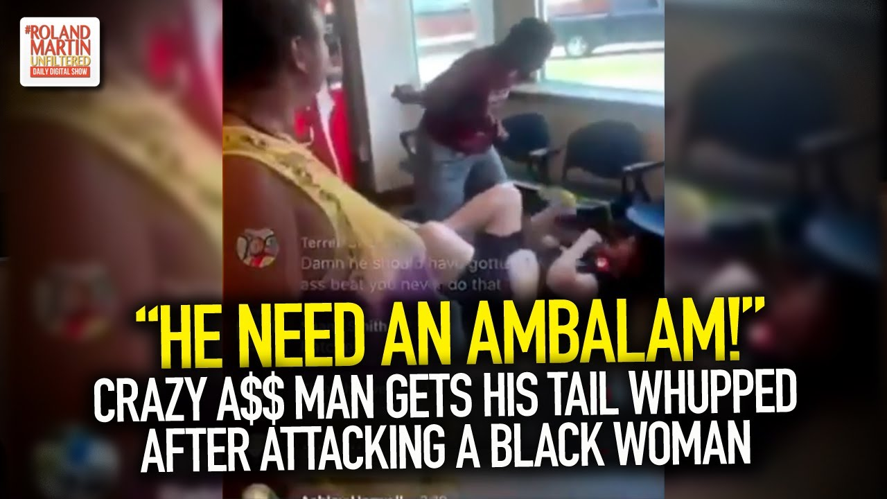 """""""He Need An Ambalam!"""" Crazy A$$ Man Gets His Tail Whupped After Attacking A Black Woman"""